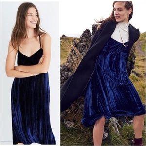 NWT Madewell velvet slip dress